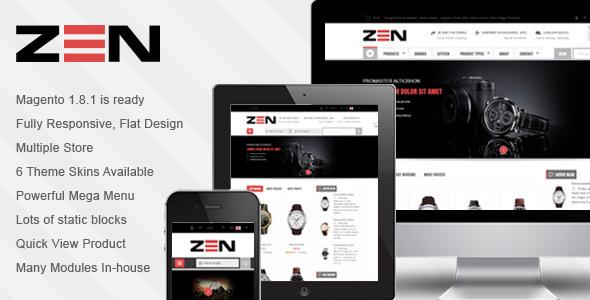 ThemeForest SM Zen Responsive Multi-Store Magento Theme 6943662