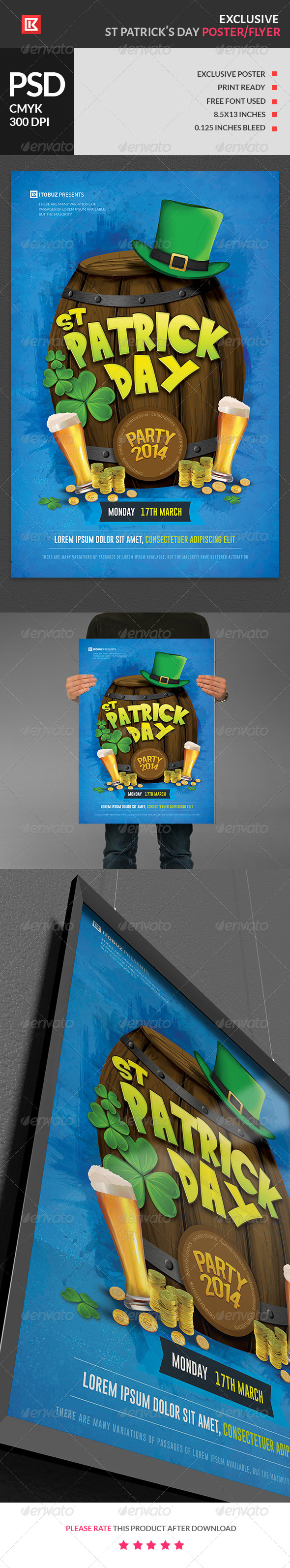 GraphicRiver Exclusive St Patrick s Day Poster 6985076