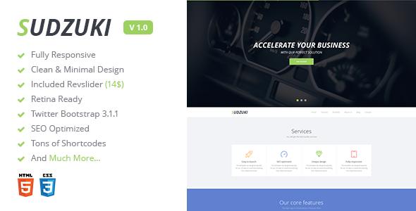 ThemeForest Sudzuki Premium One Page Bootstrap Template 6943348
