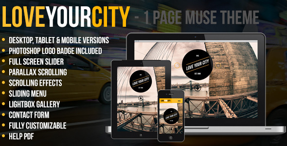 Love Your City -  One Page Muse Theme