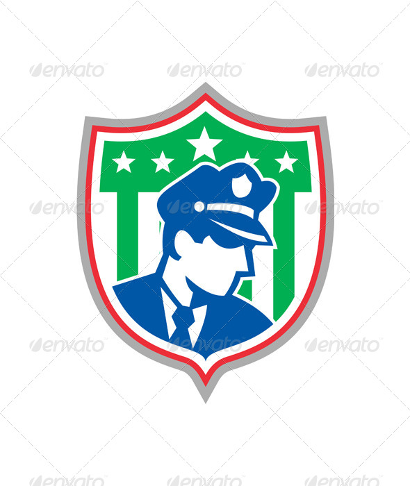 GraphicRiver Security Guard Police Officer Shield 6986042