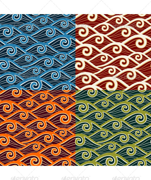 GraphicRiver Swirly Wave Pattern 6986340