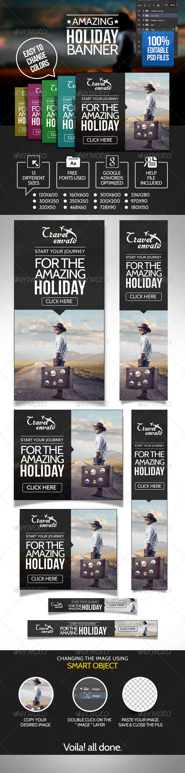 GraphicRiver Travels Banner Set 6986399