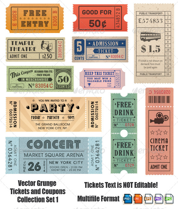 GraphicRiver Vector Coupons and Tickets Collection 2 6986440