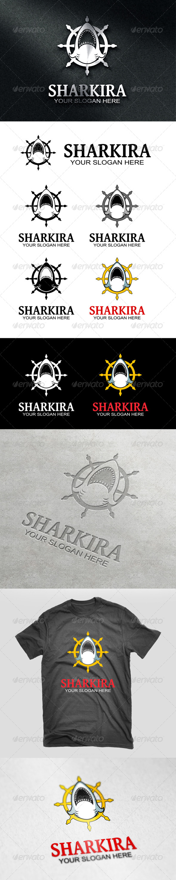 GraphicRiver Sharkira Logo 6962056
