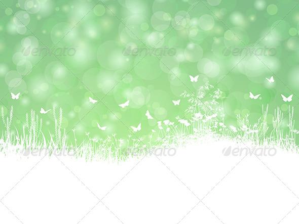 GraphicRiver Spring Landscape 6986971