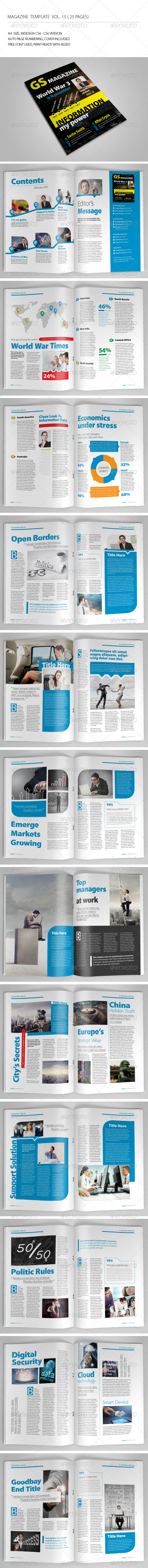 GraphicRiver 25 Pages Magazine Template Vol15 6976061