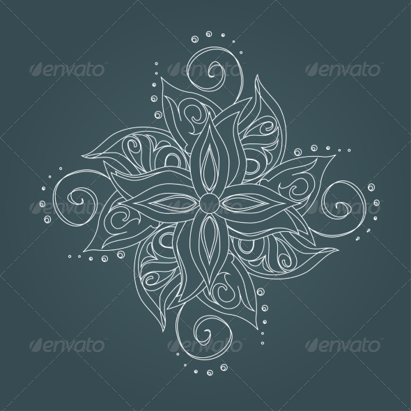 GraphicRiver Abstract Floral Pattern 6987282
