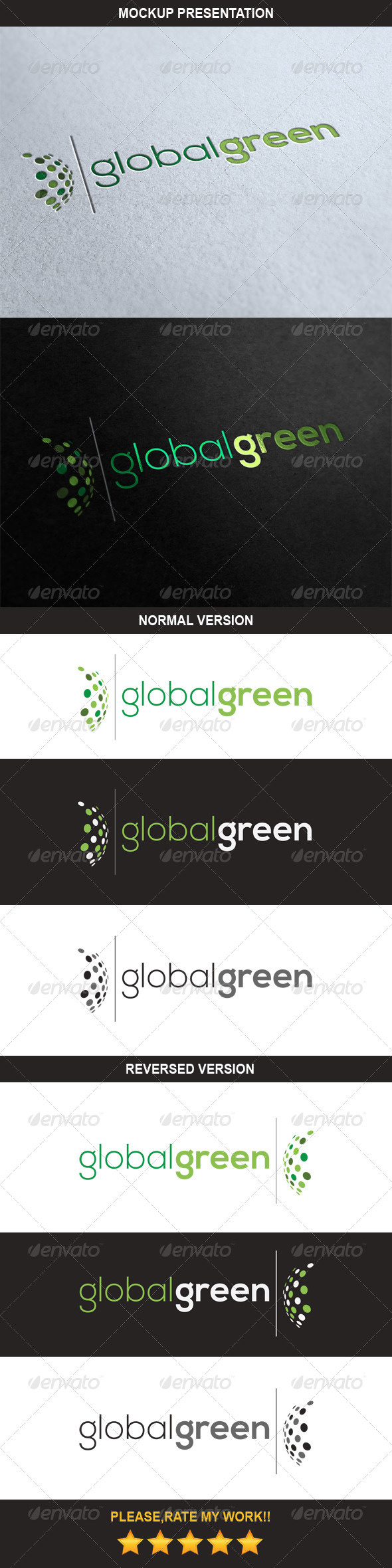 GraphicRiver Global Green Logo 6987340
