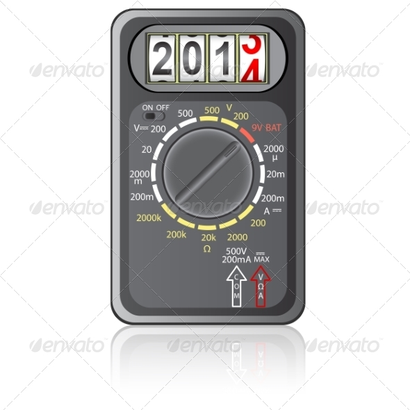 GraphicRiver 2014 New Year Multimeter 6987915