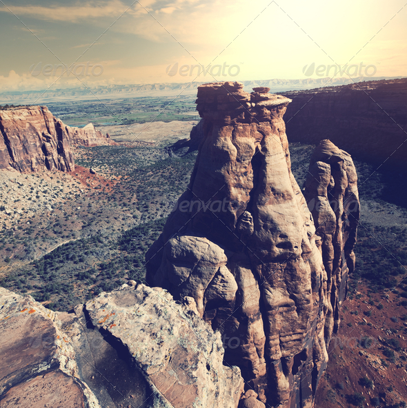 Colorado monument - Stock Photo - Images