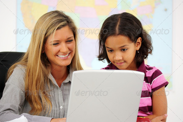 Stock Photo - PhotoDune Teacher and Student 731977