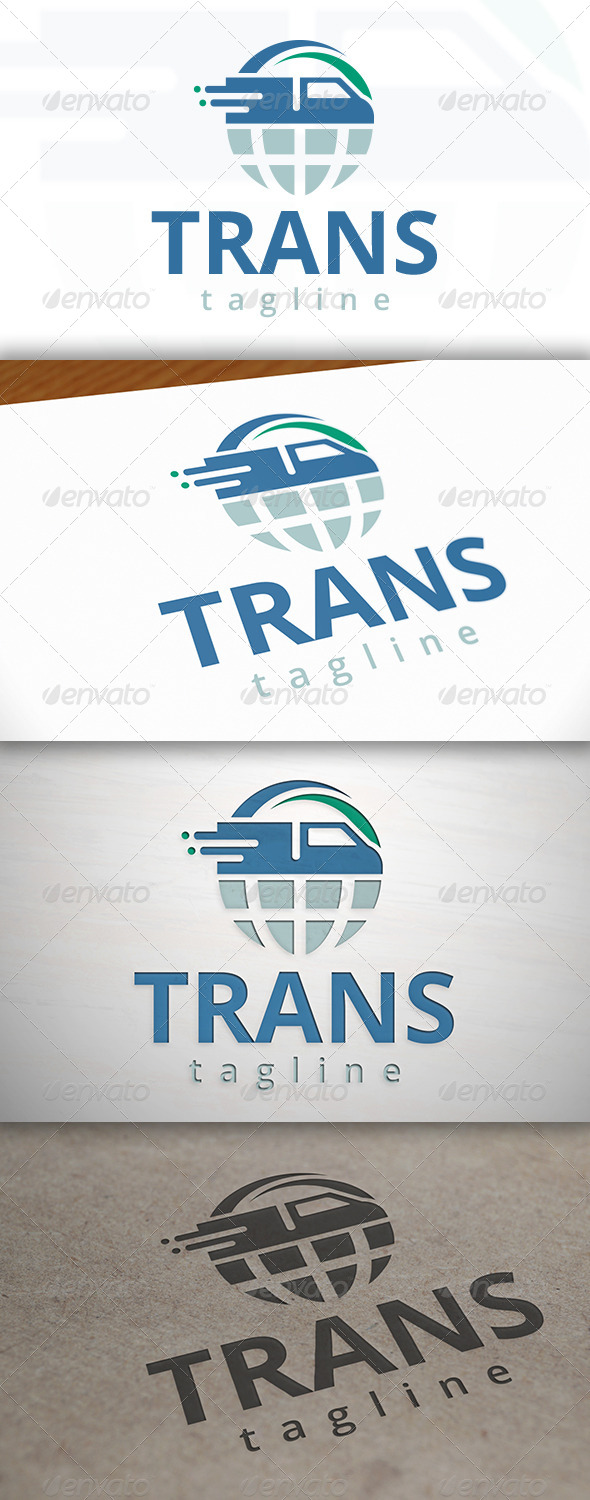 GraphicRiver Transport World Logo 6988144