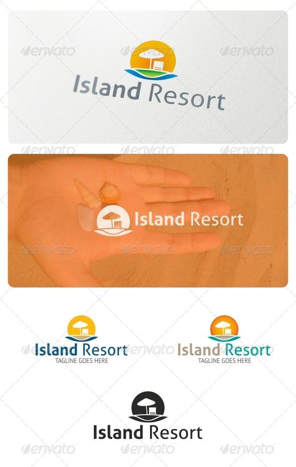 GraphicRiver Island Resort Logo 6988217