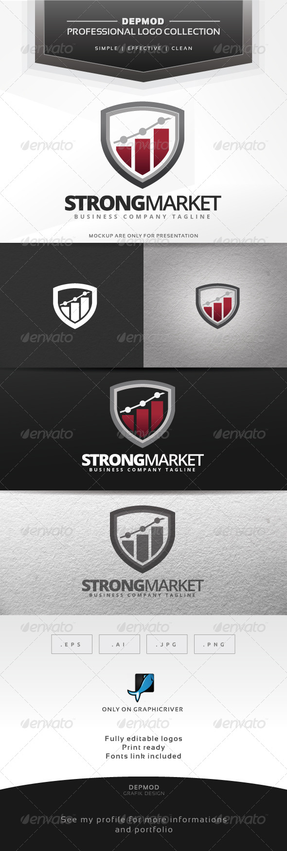 GraphicRiver Strong Market Logo 6988519