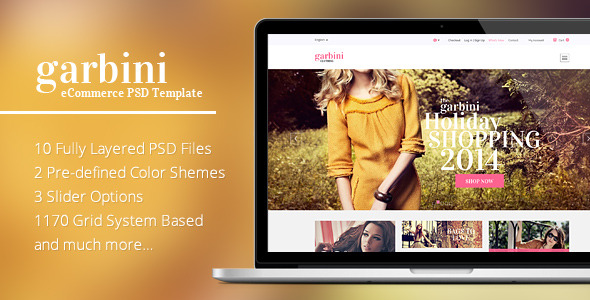 Garbini - eCommerce PSD Template
