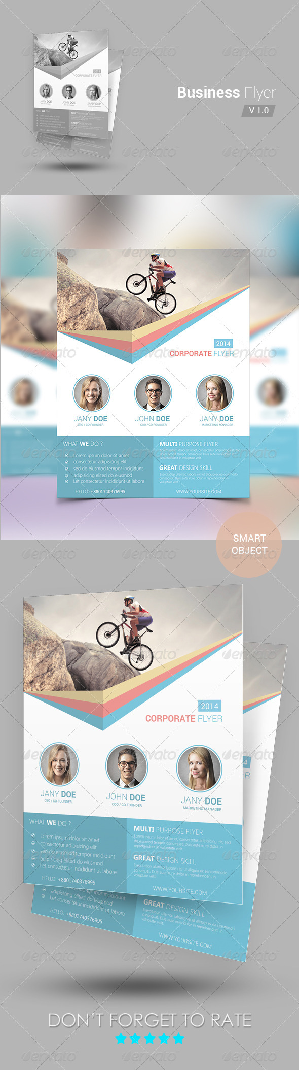 GraphicRiver Business Flyer template 6988538