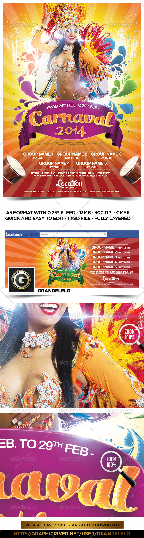 Carnival 2014 Flyer Template  - Events Flyers