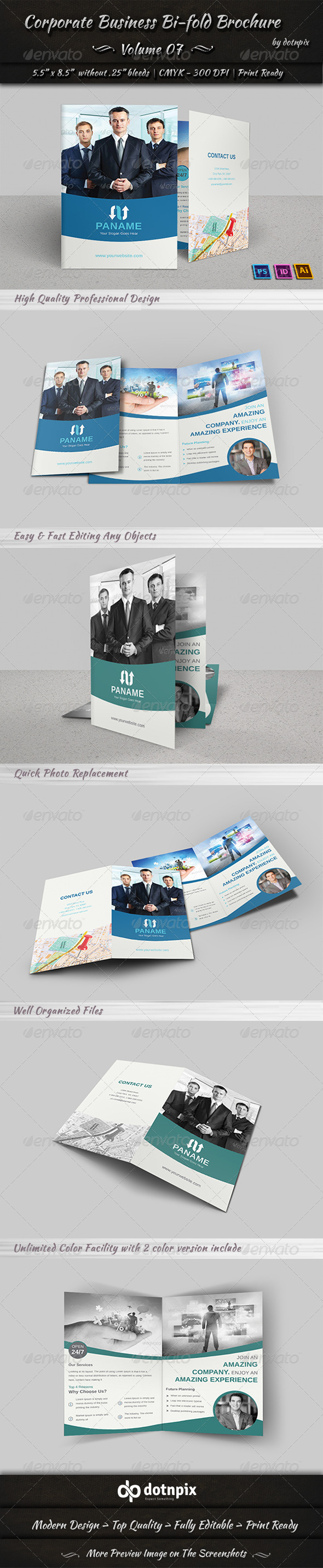 GraphicRiver Corporate Business Bi-Fold Brochure Volume 7 6988552