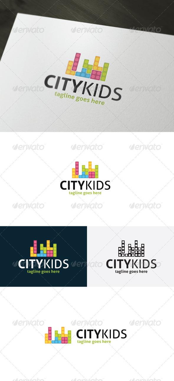 GraphicRiver City Kids Logo 6989524