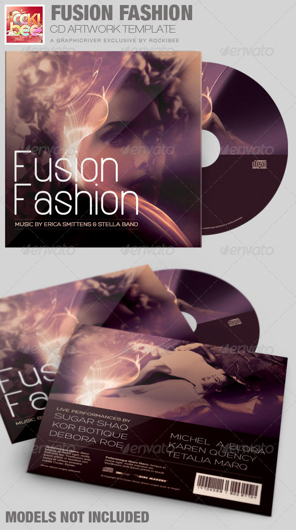 Fusion Fashion CD Artwork Template