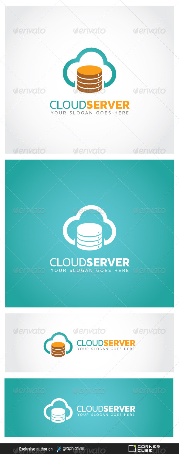 GraphicRiver Cloud Server Logo 6989669