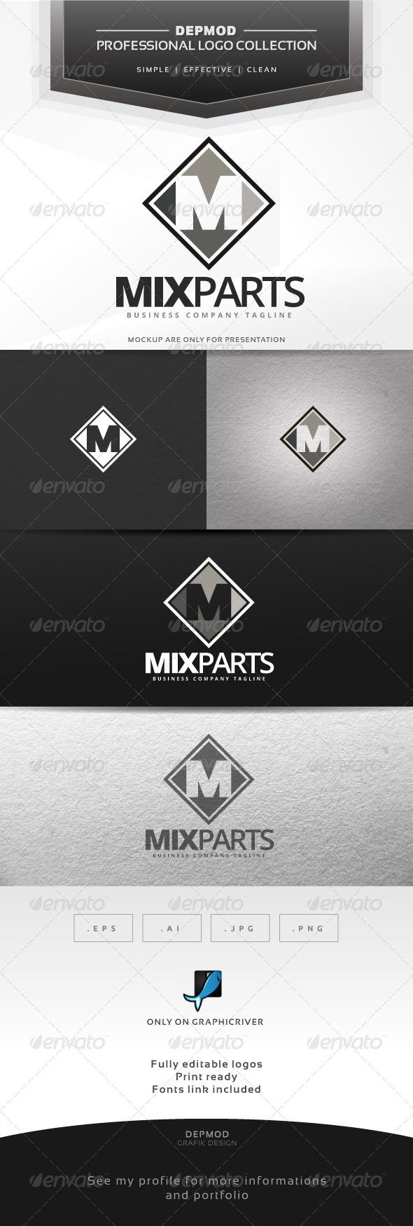GraphicRiver Mix Part Logo 6989717