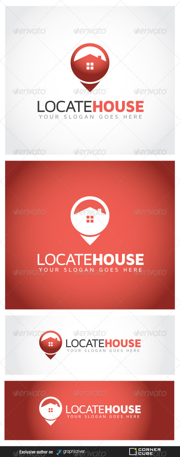 GraphicRiver Locate House Logo 6989722