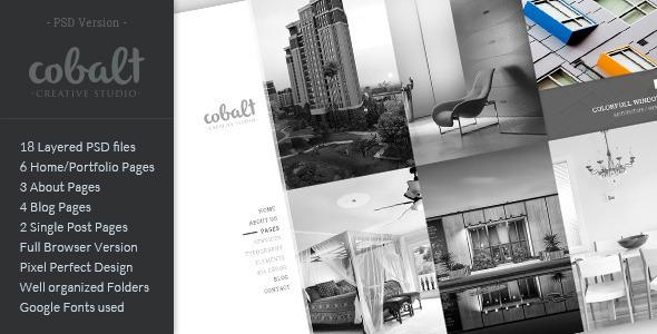 Cobalt - Creative Studio PSD Template - Creative PSD Templates