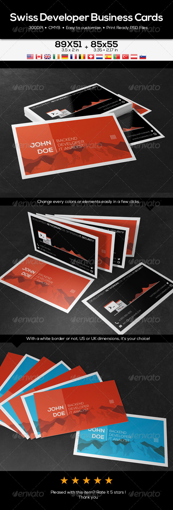 GraphicRiver Swiss Developer Business Cards 6979164