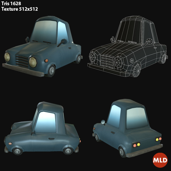 3DOcean Low Poly Car 6978128