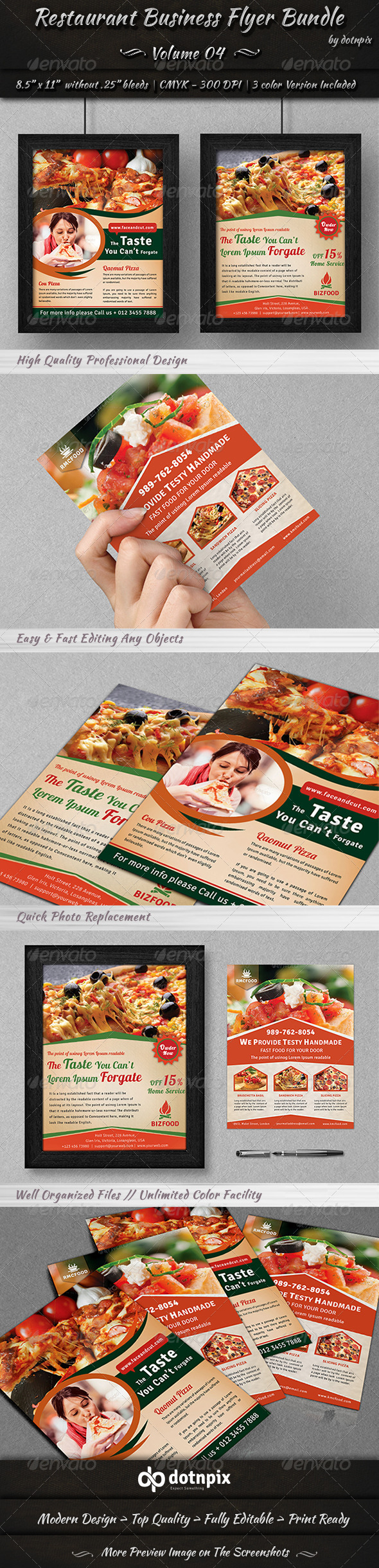 GraphicRiver Restaurant Business Flyer Bundle Volume 4 6990226