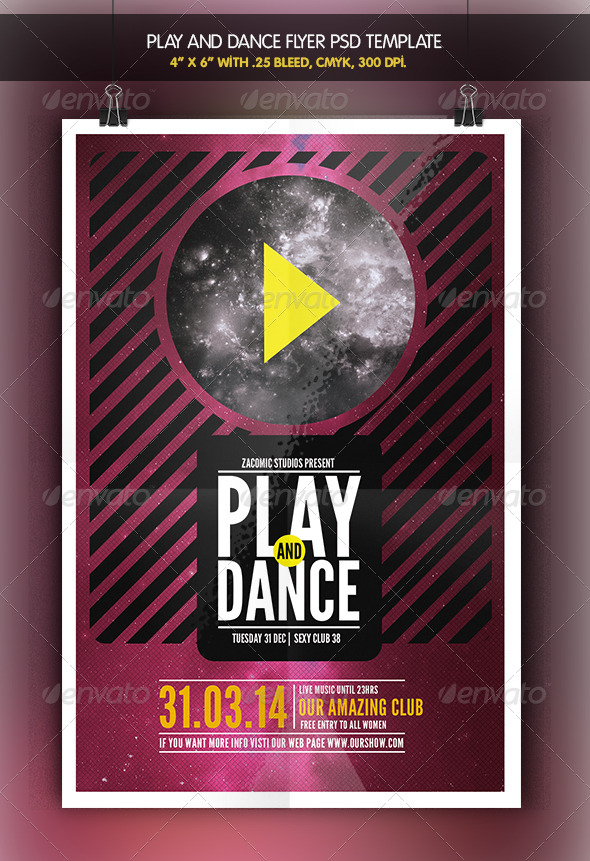 GraphicRiver Play and Dance Flyer Template 6977748
