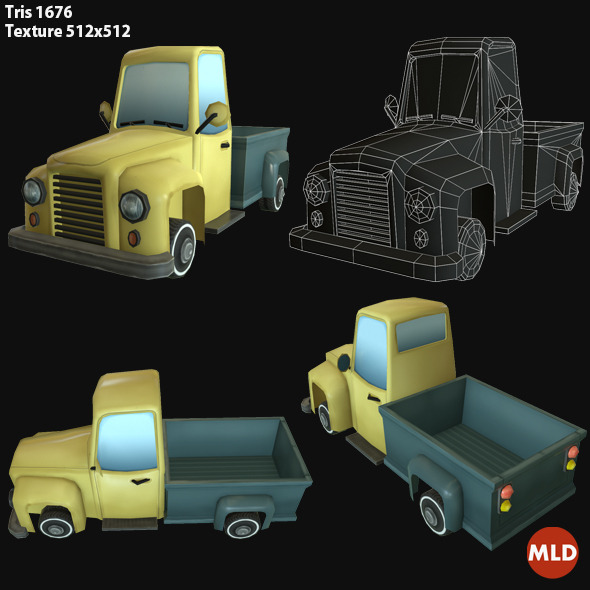 3DOcean Low Poly Truck 6990239