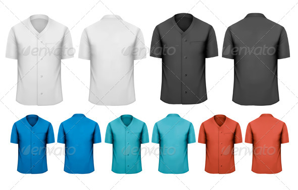 GraphicRiver Set of Work Shirts 6990434