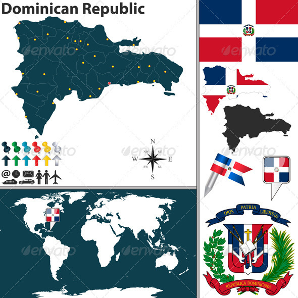 GraphicRiver Map of Dominican Republic 6990445