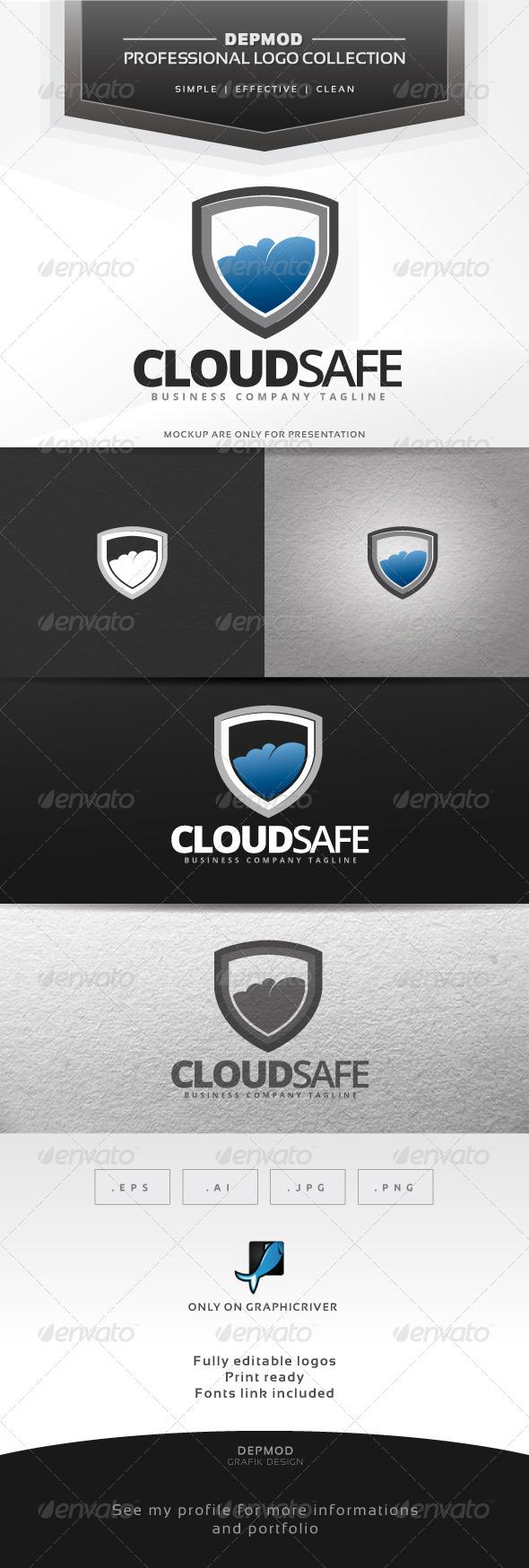 GraphicRiver Cloud Safe Logo 6990447