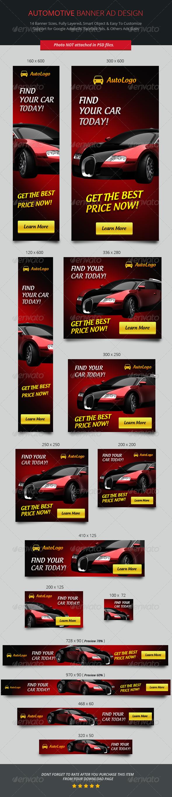 GraphicRiver Automotive Banner ad Design 6973245