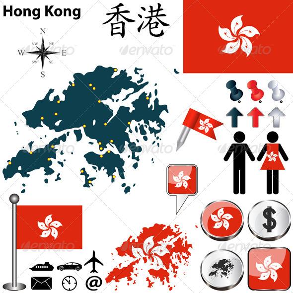 GraphicRiver Map of Hong Kong 6990452