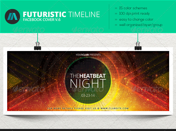GraphicRiver 15 Color Scheme Timeline Cover Vol.6 6986882