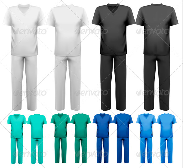 GraphicRiver Sets of Medical and Doctor Clothes 6990792