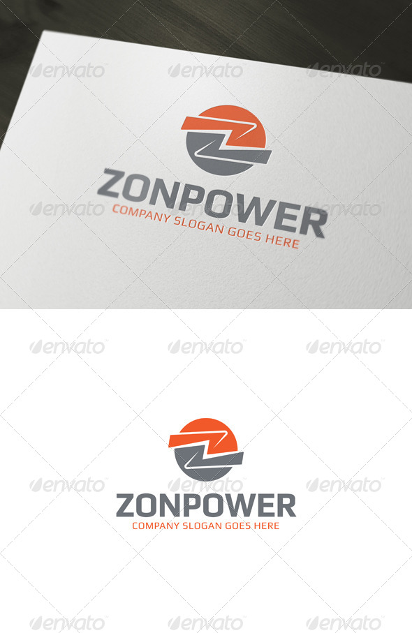 GraphicRiver Zonpower Z Letter Logo Template 6991609