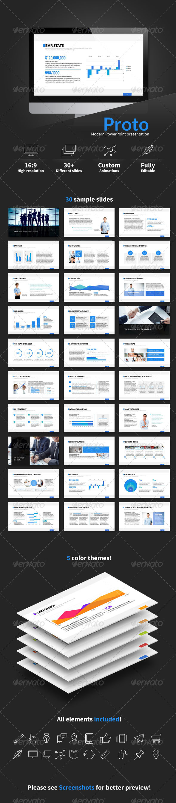 GraphicRiver Proto PowerPoint presentation 6991616