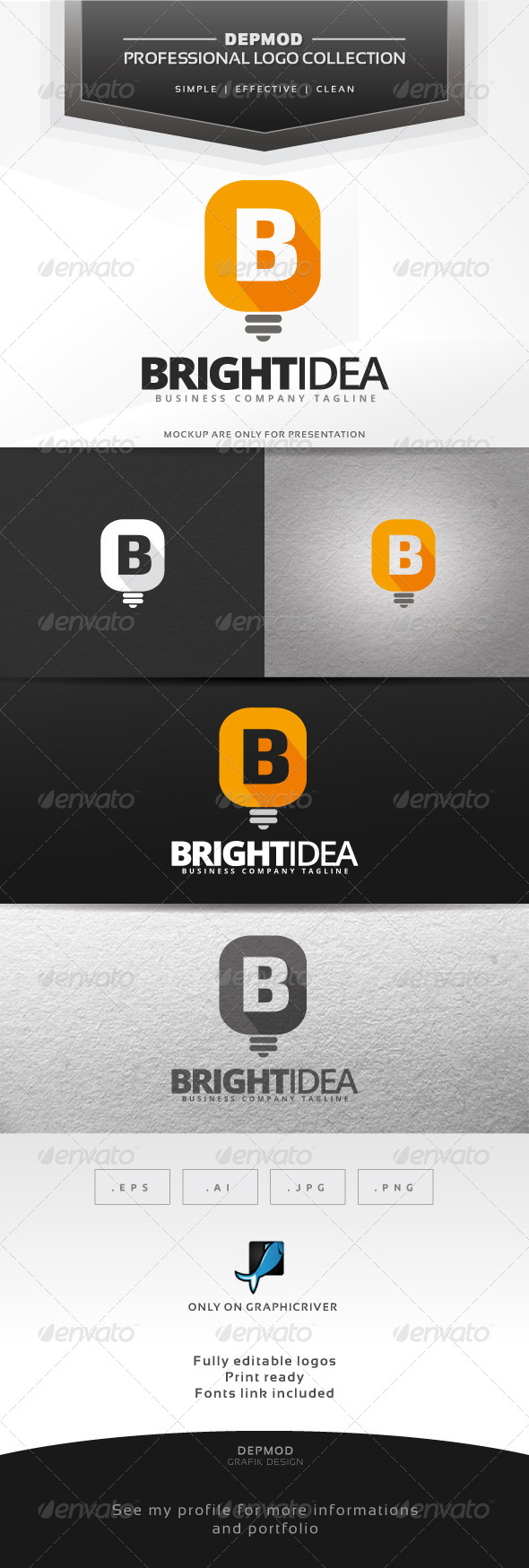 GraphicRiver Bright Idea Logo 6991820