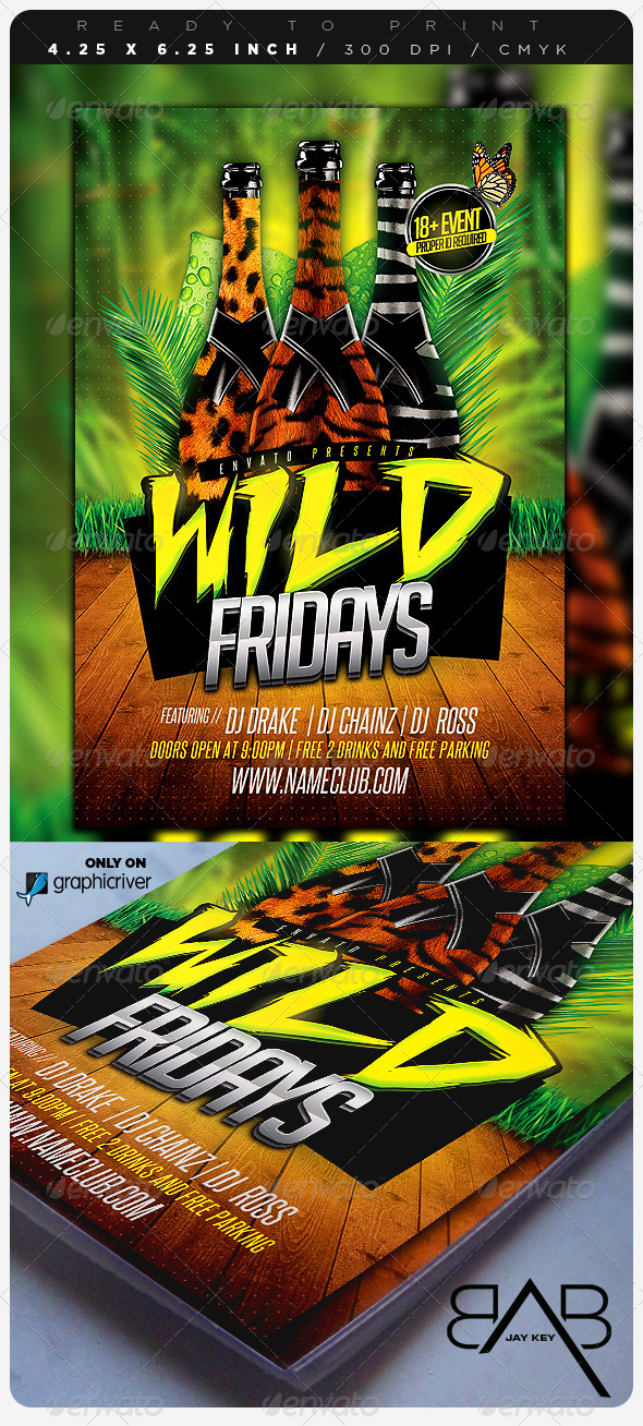 GraphicRiver Wild Days Party Flyer 6972342