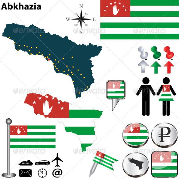 GraphicRiver Map of Abkhazia 6991832