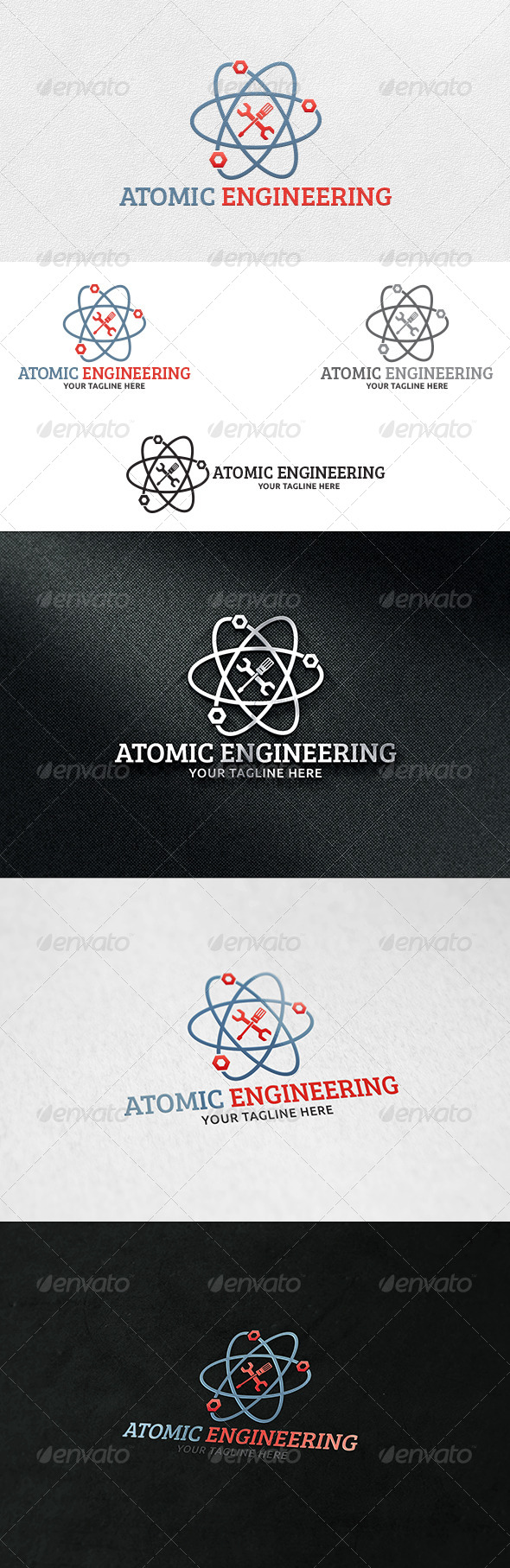 GraphicRiver Atomic Engineering Logo Template 6991875