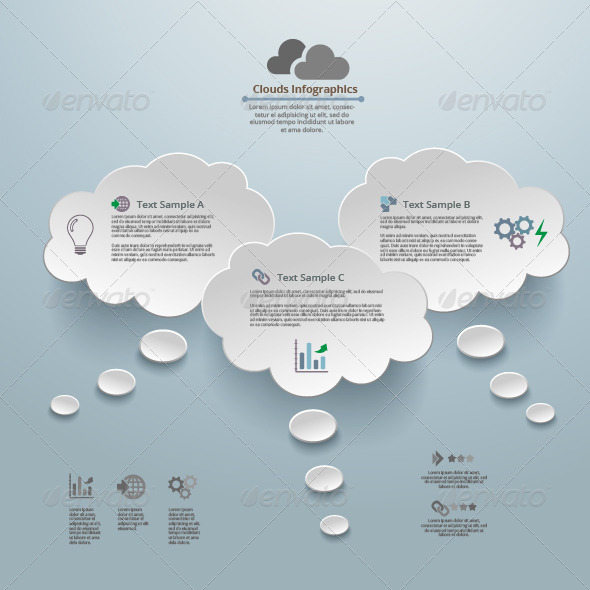 GraphicRiver Clouds Thinking Infographic Background 6991935