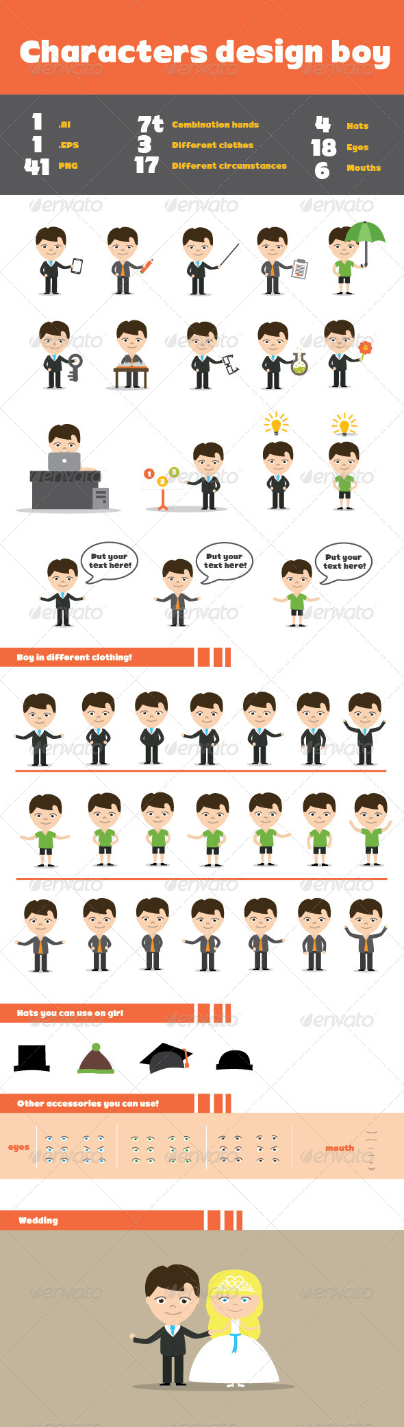 GraphicRiver Character Design Boy 6981203