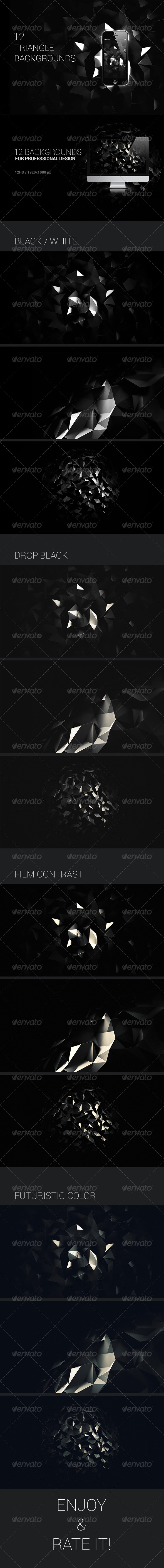 GraphicRiver 3D Polygon Backgrounds Abstract Set 6991978